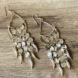 Silver Chandelier Dangle Boho Earrings